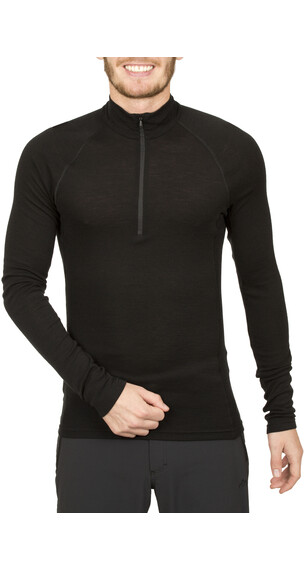 Icebreaker Everyday LS Half Zip Shirt Men black